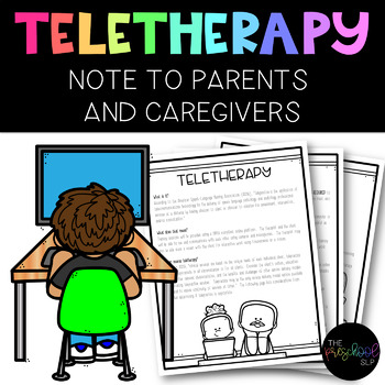 Speech Therapy: Teletherapy Information and Tips for Parents Handout FREEBIE
