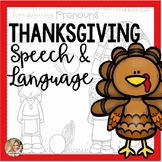 Speech Therapy Thanksgiving | Fall Speech and Language