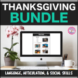 Speech Therapy Thanksgiving Bundle: Language, Articulation, & Social Pragmatics