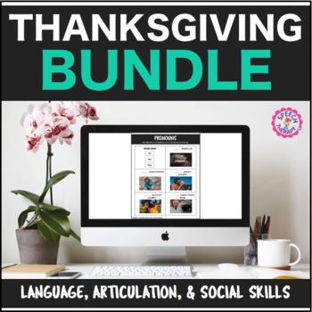 Speech Therapy Thanksgiving Bundle: Language, Articulation, & Social Pragmatics