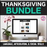 Speech Therapy Thanksgiving: Language, Articulation, & Social Pragmatics