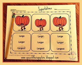 Speech Therapy Thanksgiving Language Bundle