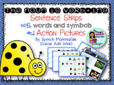 Speech Therapy The noun is verbing grammar w/ action pictures & sentence strips