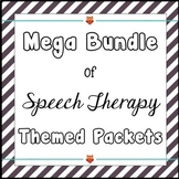Speech Therapy Themed Packets Bundle