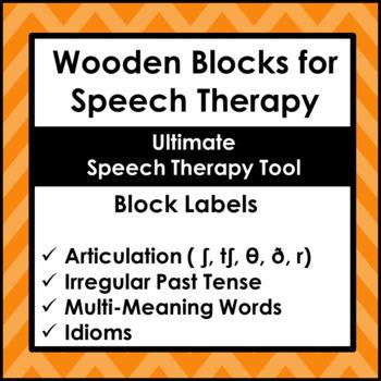 Speech Therapy Tool Wooden Blocks