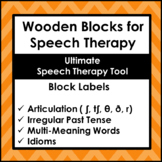 Speech Therapy Tool Wooden Blocks