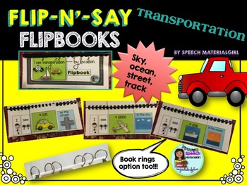 Speech Therapy Transportation Flipbook booklet I see categories Autism