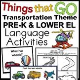 Transportation Language Activities for Preschool Speech Therapy