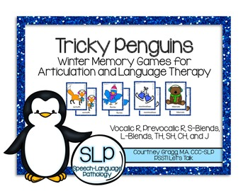 Speech Therapy: Tricky Penguins Match Game