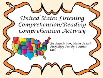 Speech Therapy: United States Listening Comprehension Activity