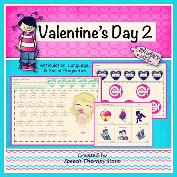 Speech Therapy Valentine's Day 2 Bundle: Lang, Articulation, & Social Pragmatics