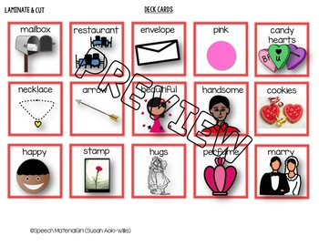 Speech Therapy Valentine's Day vocabulary Cariboo Cranium Game