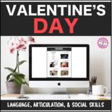 Speech Therapy Valentine's: Language, Articulation, & Social Pragmatics