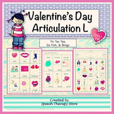 Speech Therapy Valentine's Day Articulation L Games