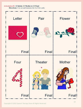 Speech Therapy Valentine's Day Articulation R Games