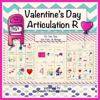 Speech Therapy Valentine's Day Articulation R Games