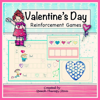 Speech Therapy Valentine's Day Reinforcement Games