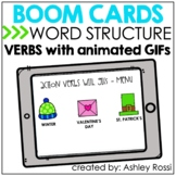 Speech Therapy Verbs with Animated GIFs BOOM Cards™️ | SEA