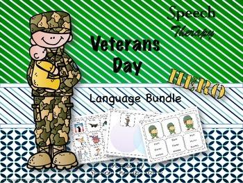 Speech Therapy Veteran's Day Language Bundle