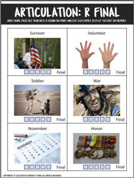 Speech Therapy Veterans Day Bundle: Language, Articulation, & Social Skills