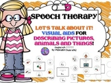Speech Therapy Visual Aid for describing attributes thoughts bubble maps