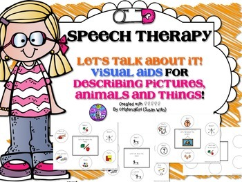 Speech Therapy Visual Aid for describing attributes though