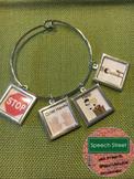 Speech Therapy Silver Visual Symbol Jewelry for Behavior
