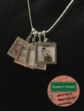 Speech Therapy Visual Symbol Necklace For Behaviors