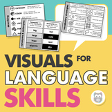 Speech Therapy Visuals for Language Skills and Strategies