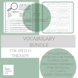 Speech Therapy Vocabulary Bundle
