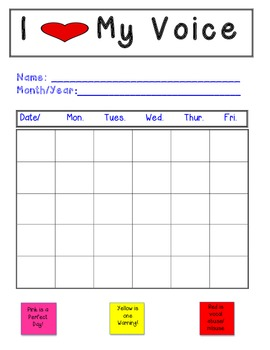 data chart for kids pictograph speech therapy voice vocal abuse data chart tpt