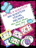 Speech Therapy WH-QUESTION Visual Prompt Who What Where Wh