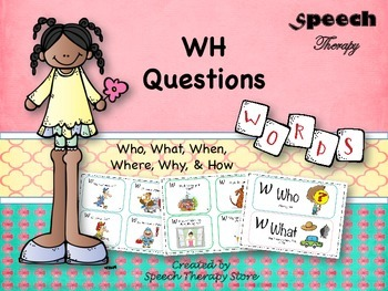 Speech Therapy WH-Question Cards