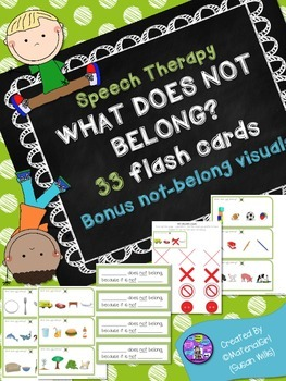 Speech Therapy WHAT DOES NOT BELONG activity categories 33