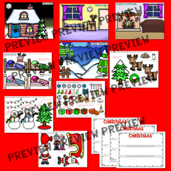 Speech Therapy WHO WHAT WHERE WHY Questions House Family Growing Bundle