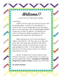 Speech Therapy Welcome Letter for Parents