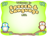 Speech Therapy Welcome Sign (Editable)