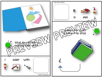 Speech Therapy Wh-Questions WHAT Interactive Booklet Autism FULL SENTENCE