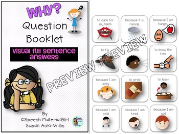 Speech Therapy Wh-Questions WHY Interactive Booklet Autism FULL SENTENCE