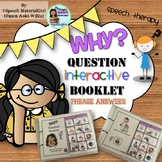 Speech Therapy Wh-Questions WHY Interactive Booklet Autism Visual Learners