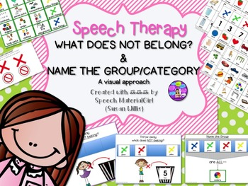 Speech Therapy What Does Not Belong Name the Group Categor