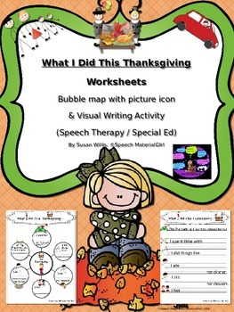 Speech Therapy What I did this Thanksgiving bubble map sen