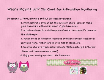 Speech Therapy: Who's Moving Up Clip Chart