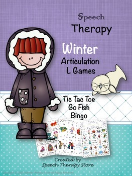 Speech Therapy Winter Articulation L Games