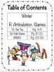 Speech Therapy Winter Articulation R Games