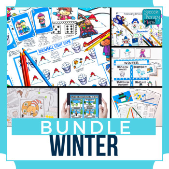 50 % off for 48 hours! Speech Therapy Winter Bundle