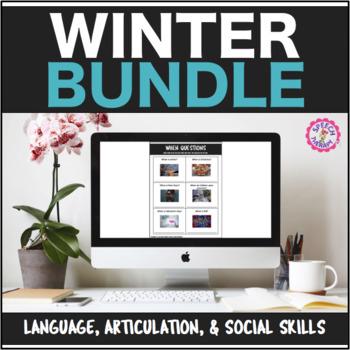 Speech Therapy Winter Bundle: Language, Articulation, & Social Pragmatics