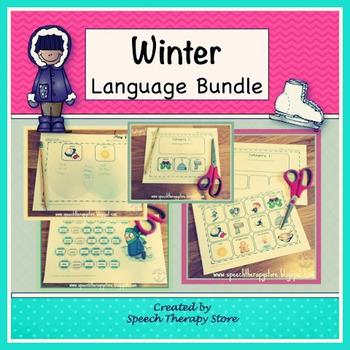 Speech Therapy Winter Language Bundle