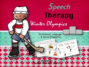 Speech Therapy Winter Olympics Bundle: Language, Articulation, & Social Skills