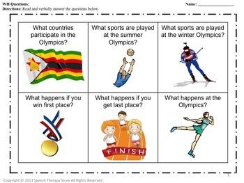 Speech Therapy Winter Olympics: Language, Articulation, & Social Skills